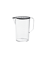 Jug 1000ml with lid black