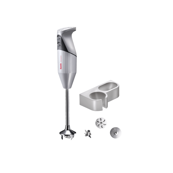 Bamix Pro-2 G200 Professional Series NSF Rated 200 Watt 2 Speed 3 Blade Immersion Hand Blender with Wall Bracket